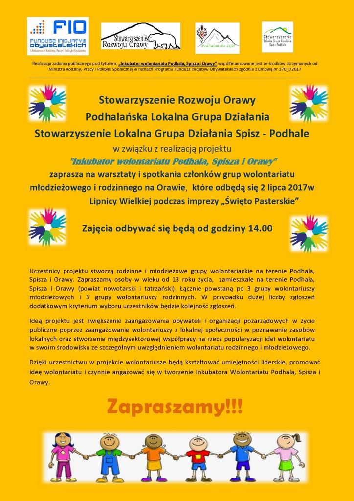 Zapraszamy wolontariuszy!!!