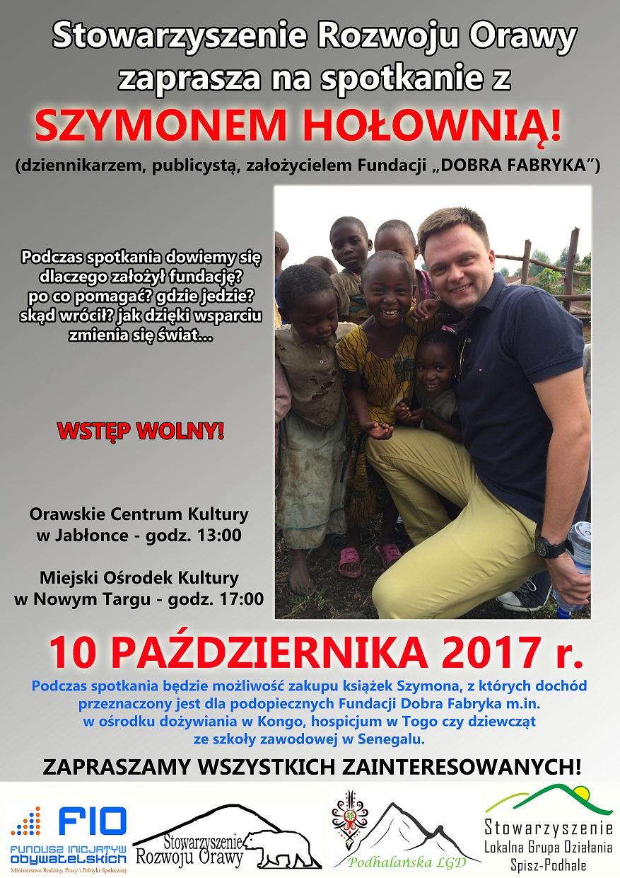 Spotkanie z Szymonem Hołownią 10 października 2017 r.